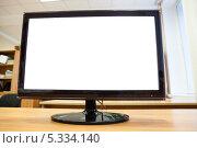 Купить «Монитор с изолированным экраном», фото № 5334140, снято 1 декабря 2013 г. (c) Кекяляйнен Андрей / Фотобанк Лори