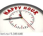 Купить «Happy hour (Счастливый час). Часы с надписью», иллюстрация № 5349648 (c) WalDeMarus / Фотобанк Лори