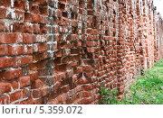 Купить «Старинная кирпичная стена Свято Благовещенского мужского монастыря в Муроме», эксклюзивное фото № 5359072, снято 26 мая 2013 г. (c) Алёшина Оксана / Фотобанк Лори