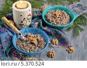 Кутья, традиционное рождественское блюдо на Украине. Стоковое фото, фотограф Ульяна Хорунжа / Фотобанк Лори