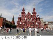 Купить «Москва. Красная площадь. Исторический музей», фото № 5385048, снято 16 августа 2009 г. (c) Корчагина Полина / Фотобанк Лори
