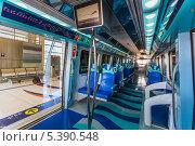 Купить «Интерьер вагона дубайского метро, ОАЭ», фото № 5390548, снято 2 ноября 2013 г. (c) Олег Жуков / Фотобанк Лори