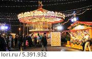 Купить «Карусель на новогодней ярмарке на Красной площади», эксклюзивный видеоролик № 5391932, снято 15 декабря 2013 г. (c) Алёшина Оксана / Фотобанк Лори