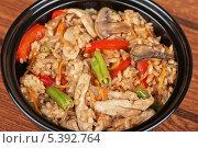 Купить «Рис с курицей и овощами», фото № 5392764, снято 11 июля 2013 г. (c) Jan Jack Russo Media / Фотобанк Лори