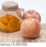 Купить «Компот из персиков», фото № 5393052, снято 1 октября 2013 г. (c) Галина Щипакина / Фотобанк Лори