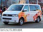 Купить «Микроавтобус Фольксваген с олимпийской символикой на борту», фото № 5393664, снято 11 декабря 2013 г. (c) Анатолий Матвейчук / Фотобанк Лори