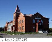 Купить «Шлиссельбург. Железнодорожный вокзал, станция Петрокрепость», фото № 5397320, снято 6 июня 2008 г. (c) Корчагина Полина / Фотобанк Лори