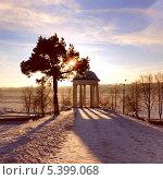 Купить «Зима, беседка Островского в Костроме», фото № 5399068, снято 6 февраля 2009 г. (c) ElenArt / Фотобанк Лори