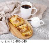 Аппетитные кекс и кофе. Стоковое фото, фотограф Денис Афонин / Фотобанк Лори