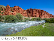 Река Djuku в горах Тянь-Шаня. Стоковое фото, фотограф Евгений Дубинчук / Фотобанк Лори