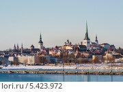Купить «Вид на старый город с залива. Таллин. Эстония», фото № 5423972, снято 10 марта 2013 г. (c) Андрей Андронов / Фотобанк Лори