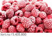 Купить «Замороженные ягоды малины», фото № 5435800, снято 9 ноября 2013 г. (c) Елена Силкова / Фотобанк Лори