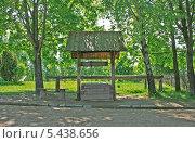 Купить «Деревянный колодец и скамейка, Беларусь», фото № 5438656, снято 18 мая 2013 г. (c) Марина Шатерова / Фотобанк Лори