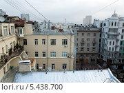 Купить «Вид на крыши домов сверху в районе старого Арбата в Москве», фото № 5438700, снято 22 ноября 2012 г. (c) Михаил Иванов / Фотобанк Лори