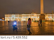 Купить «На Дворцовой площади в Петербурге», эксклюзивное фото № 5439552, снято 28 декабря 2013 г. (c) Александр Алексеев / Фотобанк Лори