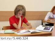 Купить «Самостоятельное изучение материала на уроке», эксклюзивное фото № 5440324, снято 2 августа 2006 г. (c) Ирина Терентьева / Фотобанк Лори