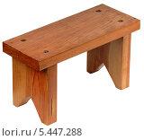 Купить «Маленькая самодельная скамейка», фото № 5447288, снято 31 декабря 2013 г. (c) Виктор Никитин / Фотобанк Лори
