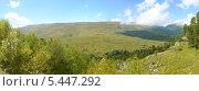 Купить «Осень на Лагонакском нагорье, панорама», фото № 5447292, снято 11 сентября 2013 г. (c) Анна Мартынова / Фотобанк Лори