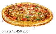 Пицца на белом фоне. Стоковая иллюстрация, иллюстратор Марк Назаров / Фотобанк Лори