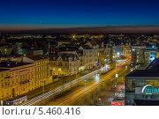Ночной город Котбус, Германия (2013 год). Редакционное фото, фотограф Евгений Питомец / Фотобанк Лори