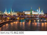 Московский Кремль зимой. Ночь (2014 год). Стоковое фото, фотограф Филипп Яндашевский / Фотобанк Лори