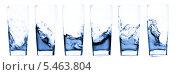Купить «Стаканы с водой на белом фоне», фото № 5463804, снято 22 июля 2009 г. (c) Станислав Фридкин / Фотобанк Лори