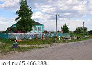 Необычный деревенский дом (2013 год). Стоковое фото, фотограф Мартынов Антон / Фотобанк Лори