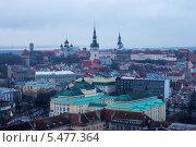 Купить «Вид на Старый город в Таллине, Эстония», эксклюзивное фото № 5477364, снято 5 января 2014 г. (c) Литвяк Игорь / Фотобанк Лори