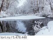 Речной пейзаж зимой. Стоковое фото, фотограф Александр Кислицын / Фотобанк Лори
