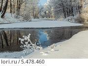 Зимний пейзаж с рекой. Стоковое фото, фотограф Александр Кислицын / Фотобанк Лори