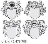 Купить «Набор аристократических эмблем», иллюстрация № 5478708 (c) Геннадий Поддубный / Фотобанк Лори