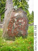 Купить «Рунный камень викингов. Сигтуна. Швеция», фото № 5481184, снято 26 августа 2008 г. (c) Andrei Nekrassov / Фотобанк Лори