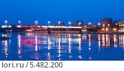 Великий Новгород. Мост Александра Невского через Волхов (2014 год). Редакционное фото, фотограф Румянцева Наталия / Фотобанк Лори