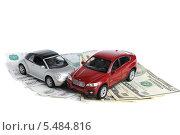 Авария двух автомобилей, деньги на белом фоне (2014 год). Редакционное фото, фотограф Алексей Карпов / Фотобанк Лори