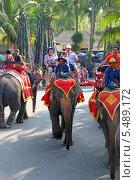 Купить «Катание на слонах. Тропический парк Нонг Нуч (Nong Nooch Tropical Garden), Королевство Таиланд», фото № 5489172, снято 27 декабря 2013 г. (c) Григорий Писоцкий / Фотобанк Лори