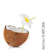 Купить «Коктейль из кокоса», фото № 5497264, снято 15 декабря 2013 г. (c) Виталий Радунцев / Фотобанк Лори