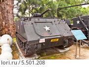 Купить «Американский огнеметный танк M132 во дворе Музея Жертв Войны. Хошимин, Вьетнам», фото № 5501208, снято 18 сентября 2013 г. (c) Иван Марчук / Фотобанк Лори