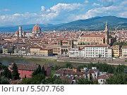 Вид на Флоренцию с площади Микеланджело (2013 год). Редакционное фото, фотограф Алла Вовнянко / Фотобанк Лори