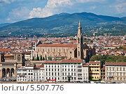 Флоренция. Вид на Санта-Кроче. (2013 год). Редакционное фото, фотограф Алла Вовнянко / Фотобанк Лори