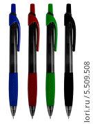 Четыре автоматические шариковые ручки. Стоковое фото, фотограф Сергей Видинеев / Фотобанк Лори