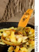 Купить «Картофель, жареный по-домашнему», фото № 5509892, снято 22 января 2014 г. (c) Наталья Осипова / Фотобанк Лори