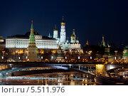 Вид на Московский Кремль зимой (2012 год). Редакционное фото, фотограф Dmitry Barmin / Фотобанк Лори