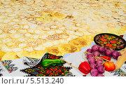 Блины. Стоковое фото, фотограф Сергей Огарёв / Фотобанк Лори