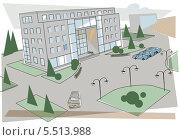 Проект здания. Стоковая иллюстрация, иллюстратор Инна Багаева / Фотобанк Лори