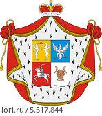 Купить «Герб князей Трубецких», иллюстрация № 5517844 (c) VectorImages / Фотобанк Лори