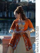 Купить «Девушка в старинном платье», фото № 5525020, снято 3 мая 2010 г. (c) Darja Vorontsova / Фотобанк Лори
