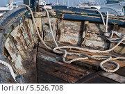 Купить «Текстура старой лодки», фото № 5526708, снято 27 сентября 2013 г. (c) Андрей Горбачев / Фотобанк Лори
