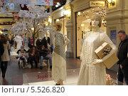 Москва, мода 1940-х годов в ГУМе (2014 год). Редакционное фото, фотограф Дмитрий Неумоин / Фотобанк Лори