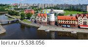 Купить «Набережная Рыбной деревни. Калининград», фото № 5538056, снято 4 августа 2011 г. (c) Сергей Куров / Фотобанк Лори