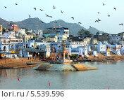 Купить «Святое озеро в Пушкаре, Индия», фото № 5539596, снято 20 ноября 2012 г. (c) Михаил Коханчиков / Фотобанк Лори